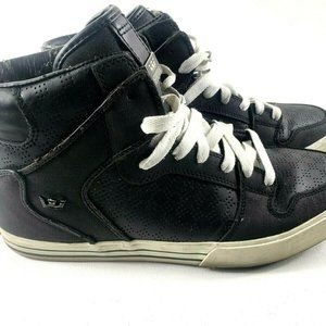 Supra Men's High Tops Leather Canvas Shoes